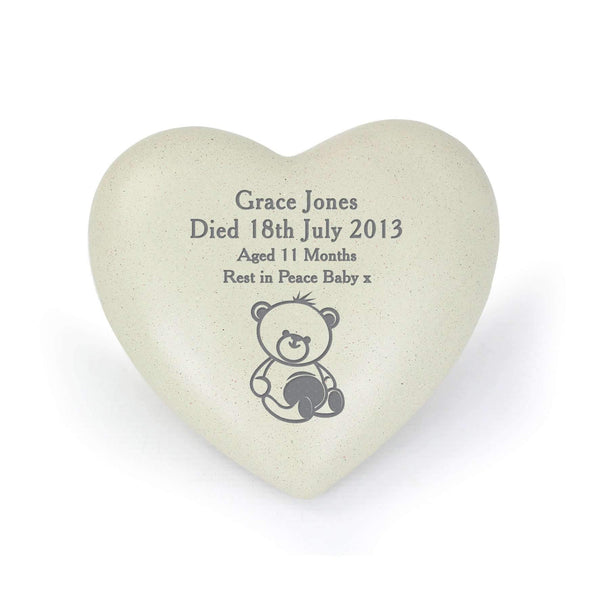Personalised Teddy Bear Heart Memorial