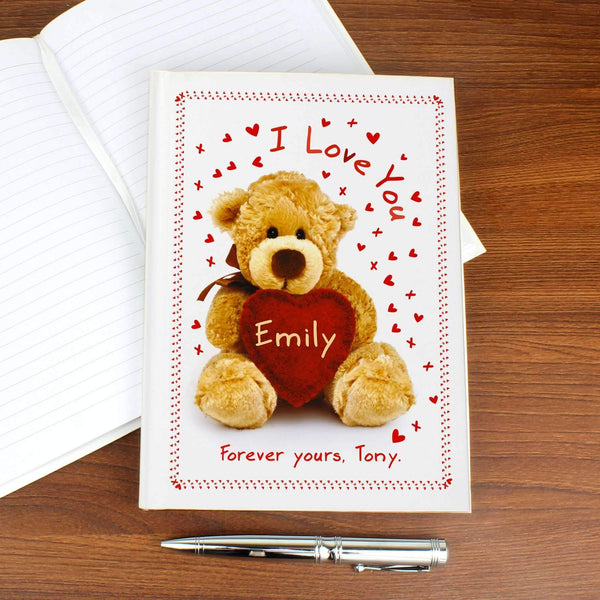 Personalised Teddy Hardback A5 Notebook