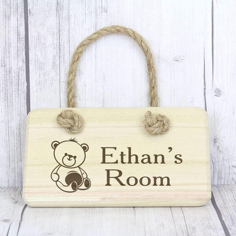 Personalised door name sign for baby gift
