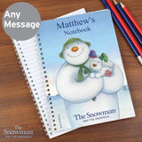 Personalised The Snowman and the Snowdog A5 Notebook Memento