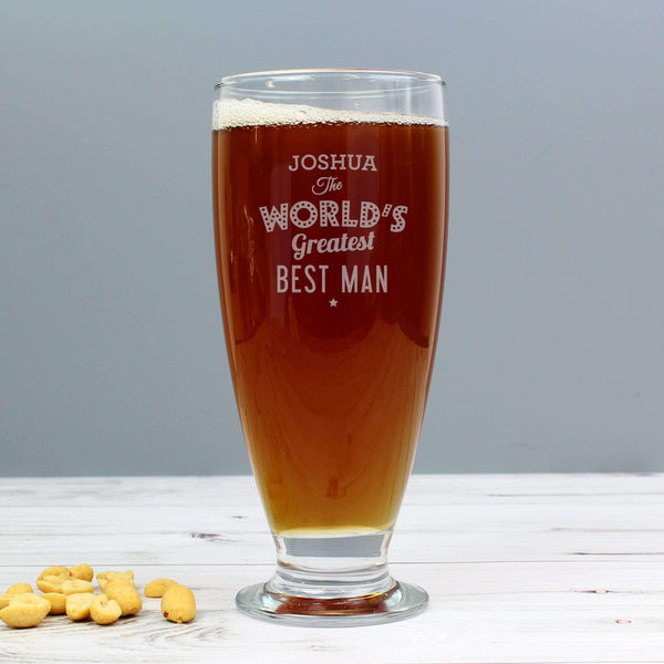 Personalised 'The World's Greatest' Craft Ale Beer Glass