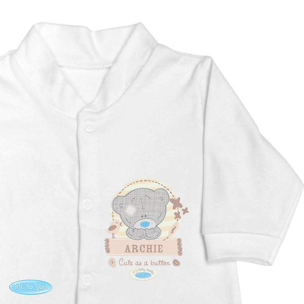 Personalised Tiny Tatty Teddy 0-3 Months Babygrow