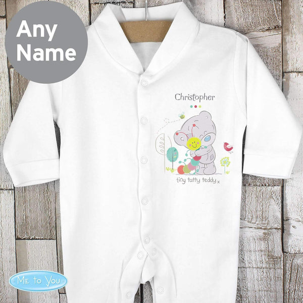Personalised Tiny Tatty Teddy Cuddle Bug 0-3 months Babygrow