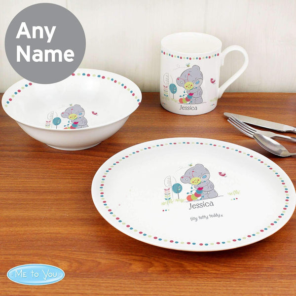 Personalised Tiny Tatty Teddy Cuddle Bug Breakfast Set