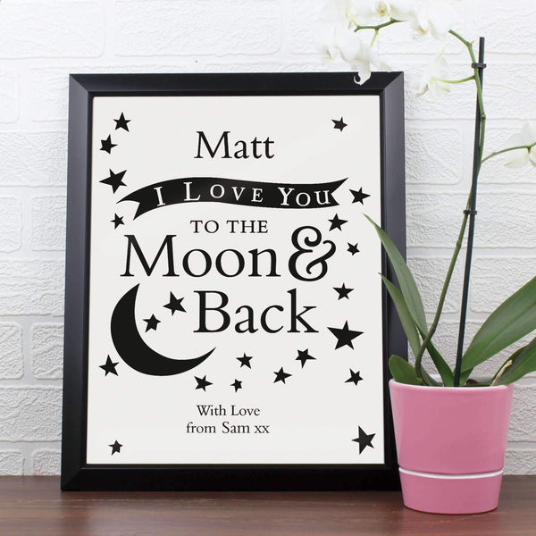 Personalised To the Moon and Back... Poster Frame