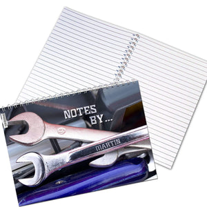 Personalised Tool Kit A5 Notebook