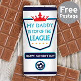 Personalised Top of the League Milk Chocolate Bar