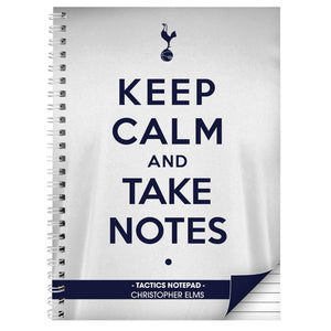 Personalised Tottenham Hotspur Keep Calm A5 Notebook
