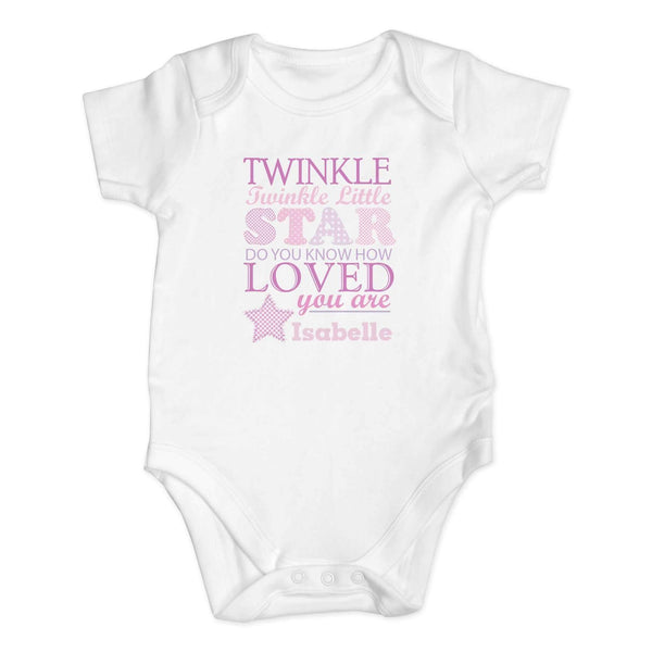 Personalised Twinkle Girls 9-12 Months Baby Vest