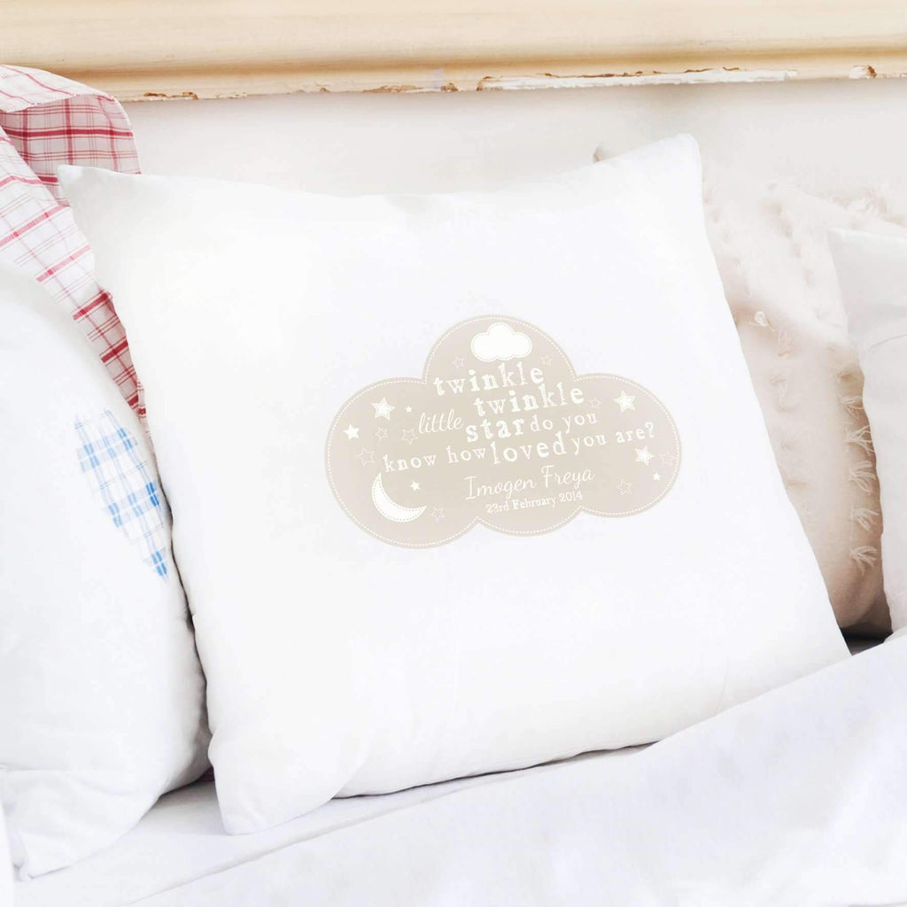 Personalised Twinkle Twinkle Cushion Cover Memento