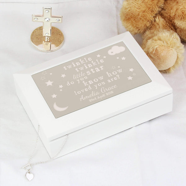 Personalised Twinkle Twinkle Jewellery Box