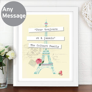 Personalised Vintage Pastel Travel White Poster Frame
