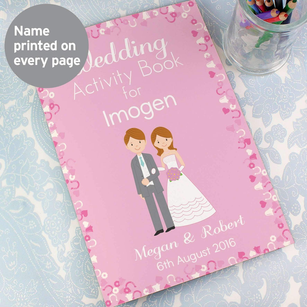 Personalised Wedding Activity Book for Girls Memento