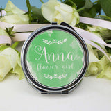 Personalised Wedding-Glam Compact Mirrors - Round