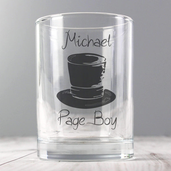 Personalised Wedding Top Hat Juice Glass