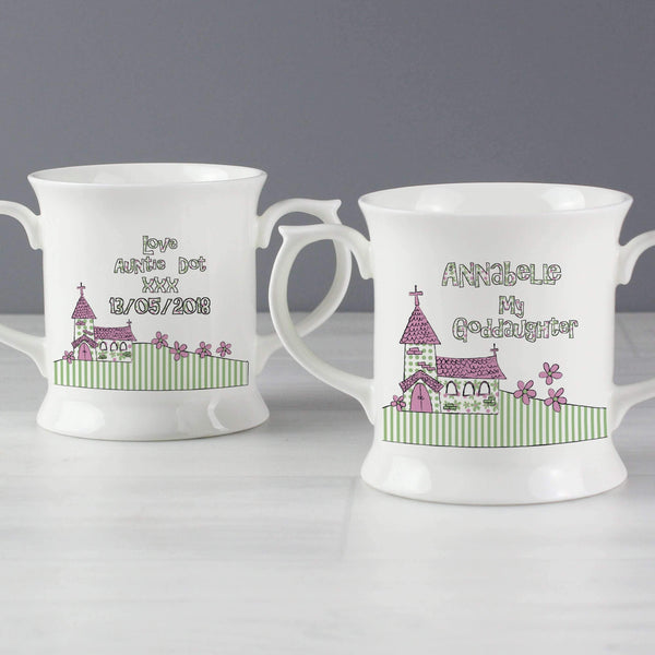 Personalised Whimsical Church Goddaughter Loving Mug