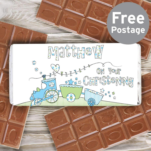 Personalised Whimsical Train Milk Chocolate Bar