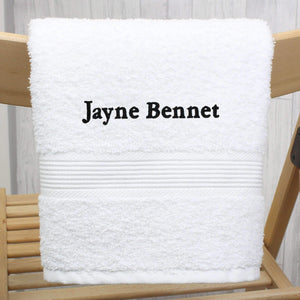 Personalised White Hand Towel