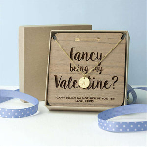 Personalised Will You Be My Valentine Necklace & Keepsake