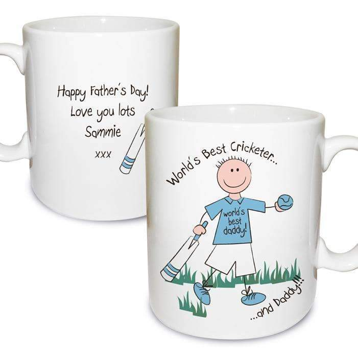 Personalised Worlds Best Cricketer Mug