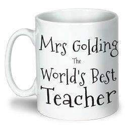 Personalised World's Best Teacher Mug