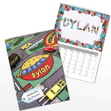 Personalised Younger Boys A4 Wall Calendar