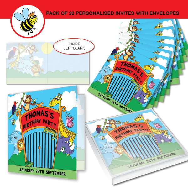 Personalised Zoo Party Invitations