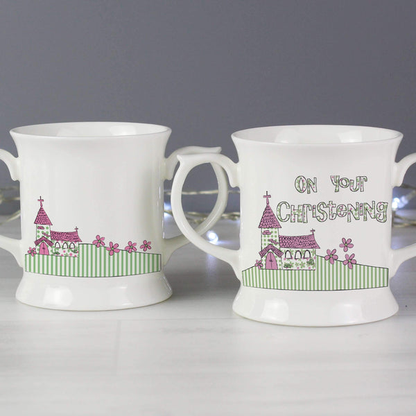 Pink Christening Church Loving Mug