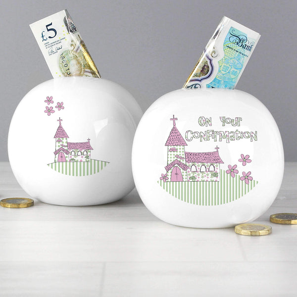 Pink Confirmation Church Money Box