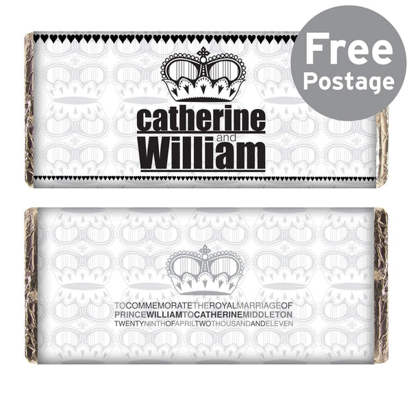 Royal Wedding Black Crown Milk Chocolate Bar