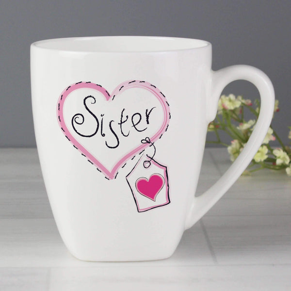Sister Heart Stitch Latte Mug