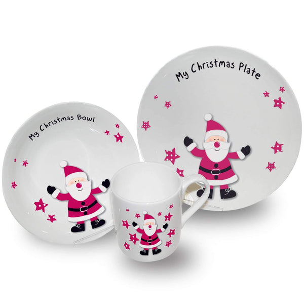Spotty Santa Breakfast Set