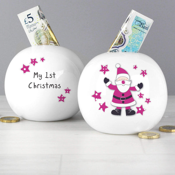 Spotty Santa Money Box