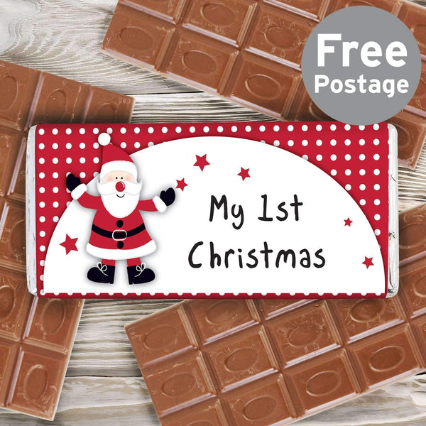 Spotty Santa My 1st Christmas Milk Chocolate Bar