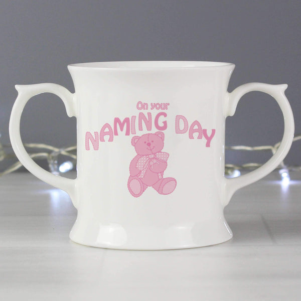 Teddy Naming Day Loving Mug Pink