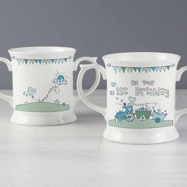 Whimsical Train 1st Birthday Loving Mug