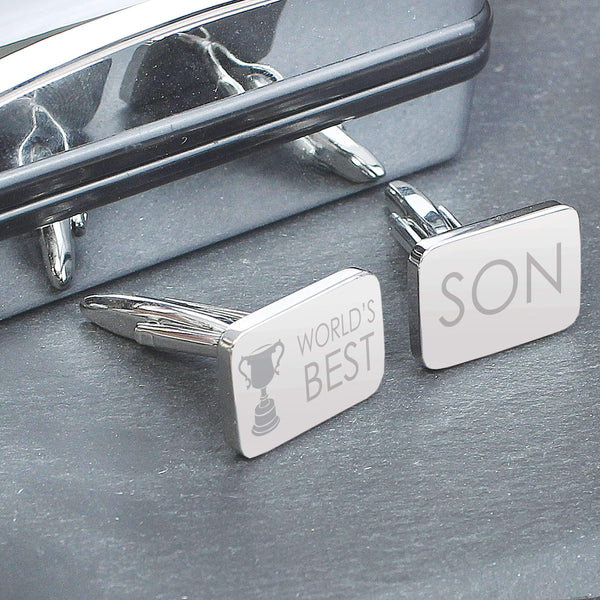 World's Best Son Cufflinks