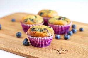 Blueberry Muffins (Gluten/Nut/Dairy Free, Low Carb)