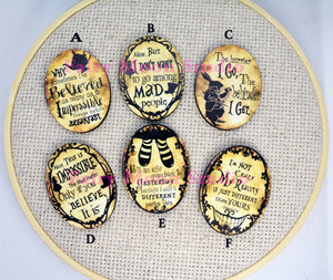 Alice In Wonderland Vintage Quote Needle Minder