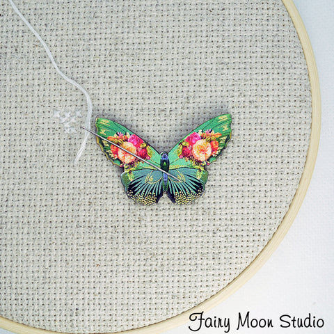 Floral Butterfly Needle Minder