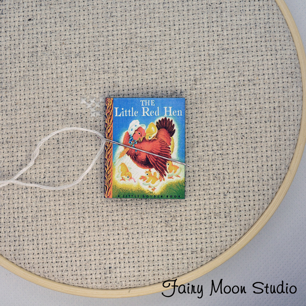 The Little Red Hen Book Needle Minder