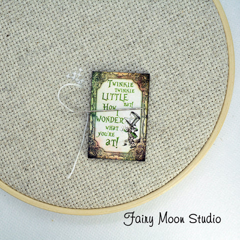 Mad Hatter Quote Needle Minder