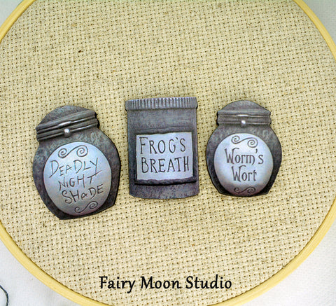 Nightmare Before Christmas Apothecary Jars Needle Minder