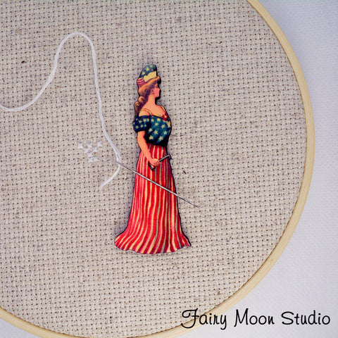 4th of July Lady Needle Minder