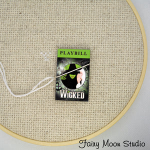Wicked Playbill  Needle Minder