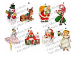 Retro Christmas Craft Embellishments
