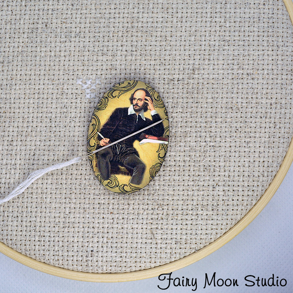 William Shakespeare Portrait Needle Minder