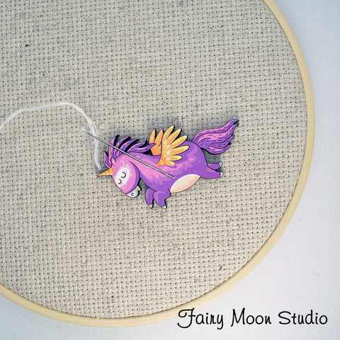 Purple Unicorn Needle Minder