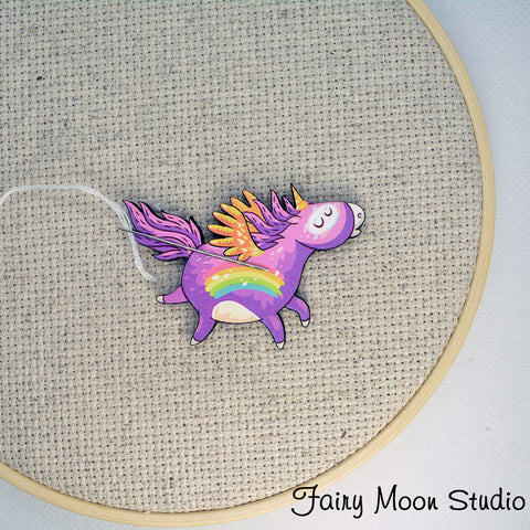 Unicorn Purple Rainbow Needle Minder