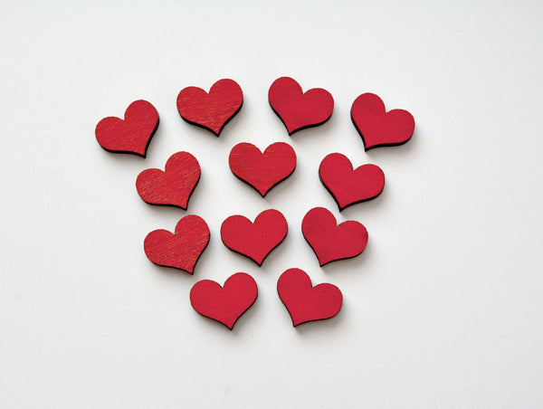 Mini Wooden Hearts